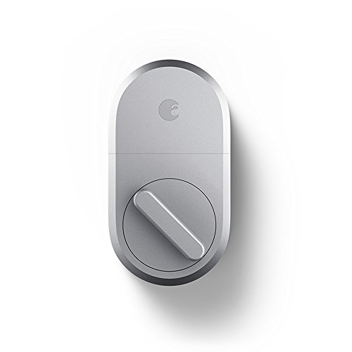 August Smart Lock, 3rd Gen technology - Silver, Works with Alexa