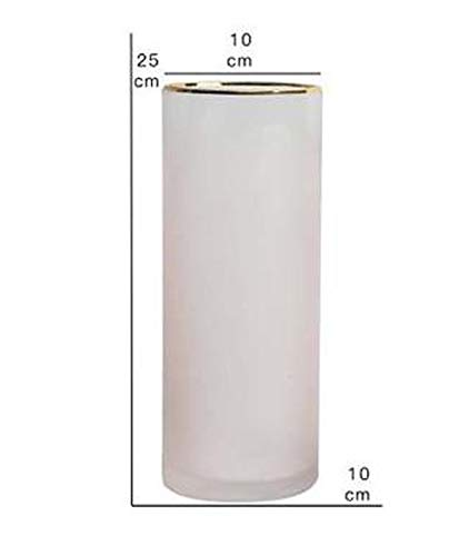 Charmg deraction vases Pink/Green Nordic Gradual Frosted Glass Transparent Vase Straight Tube Hydroponics Bottle Flower Vase Home/Party/Wedding Decor,Pink M