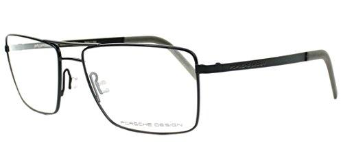 Men Eyeglasses Porsche Design P8281 Full Rim Rectangular (Black A) Metal - Frames Porsche Eyeglasses