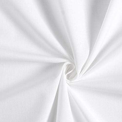 Fabulous Fabrics Tela de algodón Cretona Pure Colors – Blanco ...