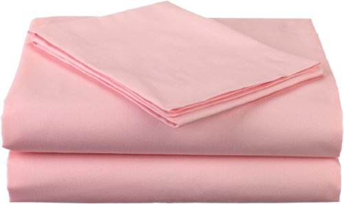 American Baby Company 100% Natural Cotton Percale Toddler Bedding Sheet Set, Pink, 3 Piece, Soft Breathable, for Girls