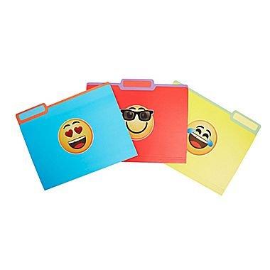 (Staples Emoji File Folder; Single Tab; Letter Size; 3 per Pack; 51213)