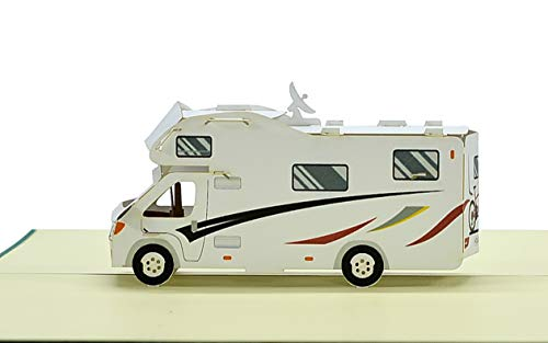 31WoZyLJ3lL Geburtstagskarte mit Pop Up Wohnmobil   Karte Geburtstag mit 3D Wohnwagen als Reisegutschein   Gutschein Urlaub…