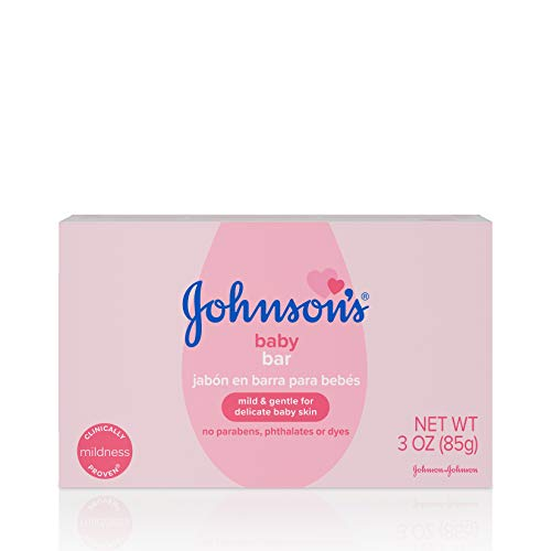 Johnson's Baby Soap Bar Gentle for Baby Bath and Skin Care, Hypoallergenic, 3 oz (Pack of 6)