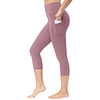 Fengbay High Waist Yoga Pants with Pockets,Yoga Capris Tummy Control Workout Running 4 Way Stretch Capris Leggings