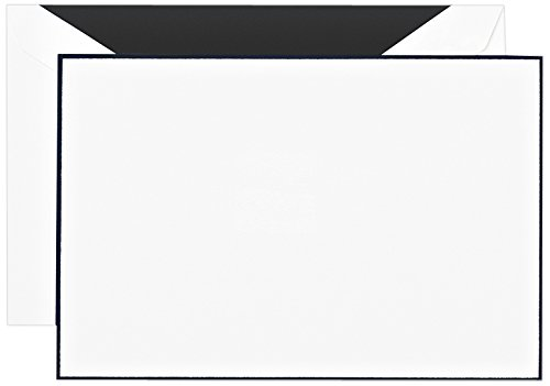 (Crane & Co. Black Bordered Correspondence Card (CC3512), Pack of)