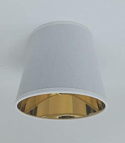 Blanco vela Clip de pantalla para lámpara de techo dorado ...