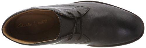 Bottes black Leather Clarks Chukka Glide Homme Noir Tw45qX