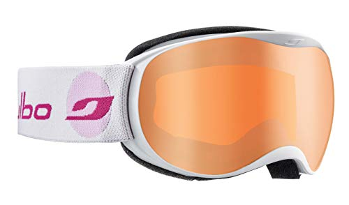 Julbo J73812116 Masque de Ski Fille, Blanc/Rose, S