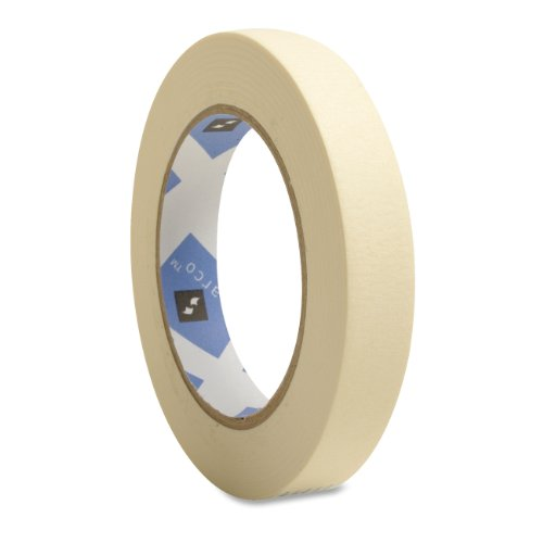 Economy Masking Tape, 3-Inch Core, 3/4-Inch X 60 Yards, Natural Kraft