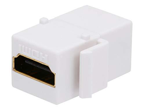 Monoprice 106852 Keystone Jack HDMI Female to Female Coupler Adapter, White