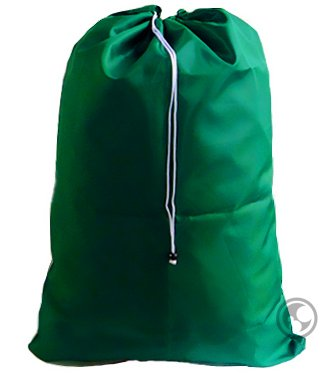Green Large Dark (Large Laundry Bag with Drawstring and Locking Closure - Color: Green,Size: 30x40)