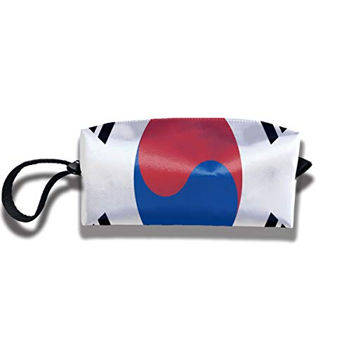 RZM YLY Flag of South Korea Print Elegant Cosmetic Pouch Bag Interesting Jewelry Pouch Travel Makeup Bag Pouch with Zipper -
