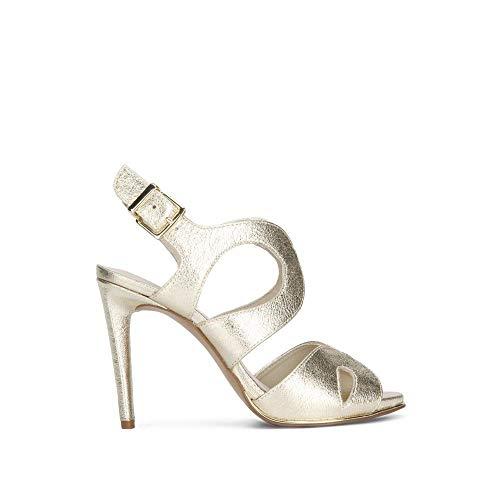 Kenneth Cole New York Women's Baldwin Stiletto Heel Dress Heeled Sandal, Soft Gold, 8 M US (Gold Leather Soft Footwear)