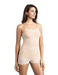 +MD Women's Seamless Basic Layering Camisole Shapewear Cami Tank Top with Adjustable Spaghetti Strap