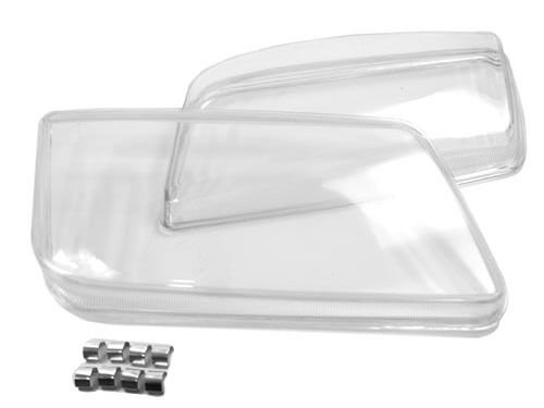 05 SP-Auto New Original Scheinwerfer Objektiv Kunststoff Shell Cover Paar f/ür VW Bora 99