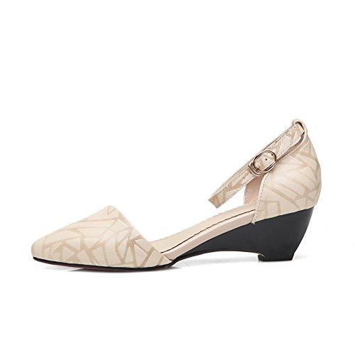 Inconnu MJS03459 Femme Beige Sandales 1TO9 Compensées U1Uwfr