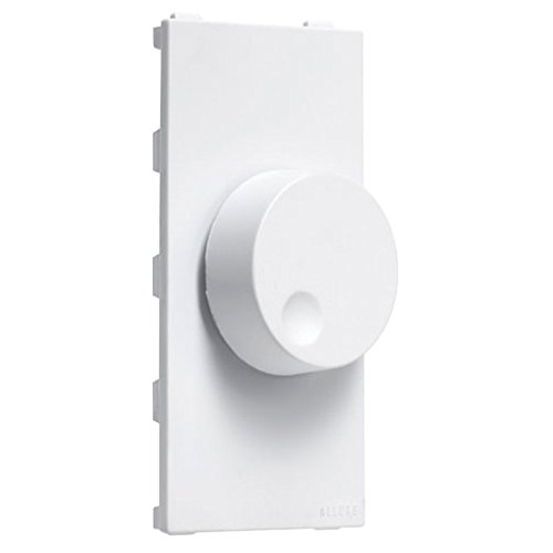 TayMac A66W Allure Nonmetallic Wallplate with Rotary Dimmer Insert, White