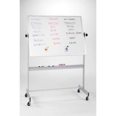 Deluxe Reversible Board Material: Dura-Rite Markerboard / Natural Cork, Frame: Aluminum
