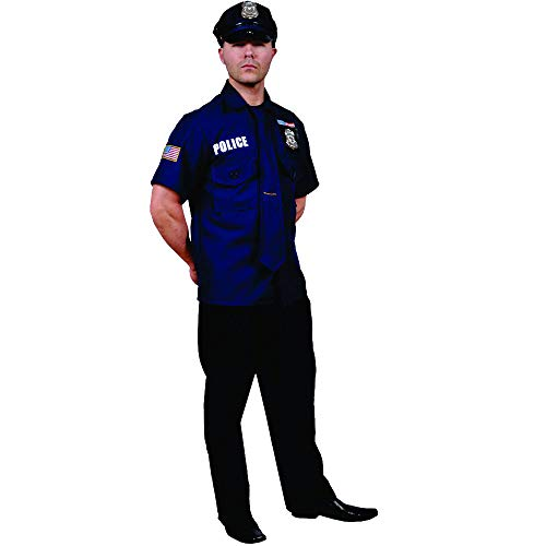 Dress Up America Police Officer, Multi-Colored, Adult Standard
