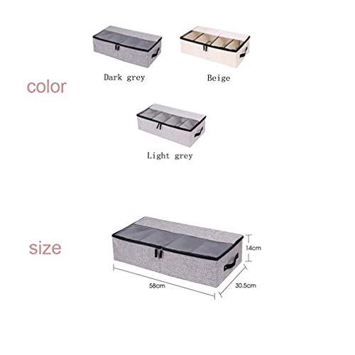 VADOLY Foldable Shoe Box Wardrobe Closet Organizer for Sock Bra Underwear Linen Cotton Storage Bag Under Bed Organizer by VADOLY (Image #7)