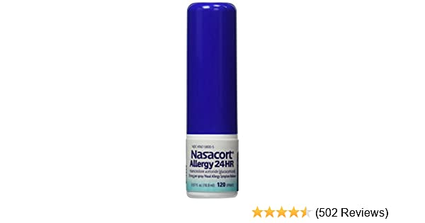 Amazon Nasacort Allergy 24hr 3 Count 057 Floz Each Health