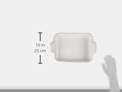 Le Creuset Heritage Stoneware 12-by-9-Inch Rectangular Dish, White by Le Creuset (Image #1)