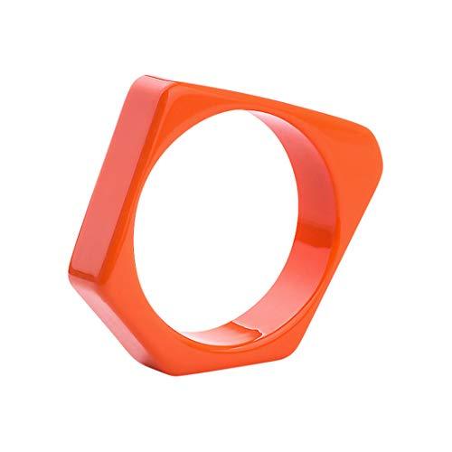 Trendy Resin Cuff Fashion Bracelets Bangles For Women Irregular Geometric Acrylic Bracelet Female Party Gifts Charm New Jewelry orange