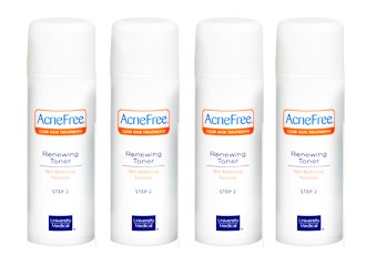 Acnefree Renewing Toner Pack of Four (4 X 4 Oz = 16 Oz)