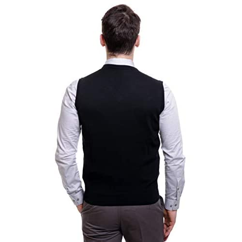 31Wov3h52GL. SS500  - BASE 41 Men's Sleeveless Sweater