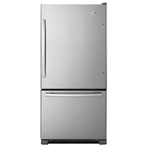 Amana ABB2224BRM 21.9 Cu. Ft. Stainless Steel Bottom Freezer Refrigerator - Energy Star