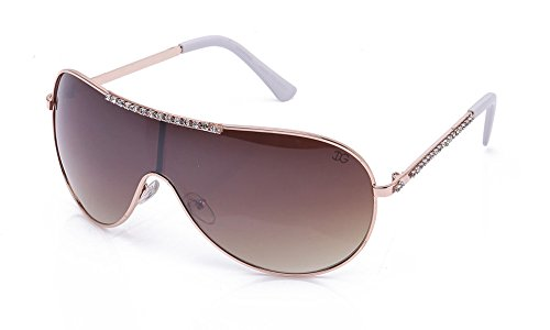 Aviator Oversized Shield Style Protection Pilot Style with Rhinestones Bling for Women