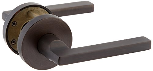 Baldwin FDSQUCRR112 Reserve Full Dummy Lockset x Square with Contemporary Round Rose in Aged Bronze ()