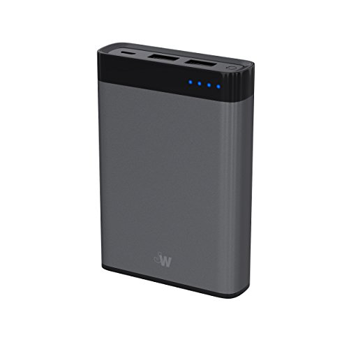 Just Wireless Portable Charger Power Bank External Battery Pack 8,000mAh Phone Charger for Apple iPhone Including XS, XS Max, XR, X, 8, 8 Plus, iPad, iPod, Samsung Galaxy and More - Space Grey