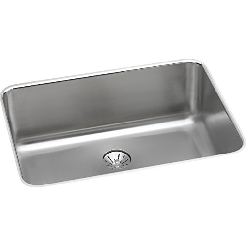 Elkay Lustertone ELUH241610PD Single Bowl Undermount Stainless Steel Kitchen Sink with Perfect Drain - Lustertone Rectangular Undermount Sink