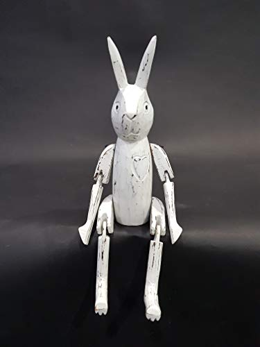 Bongjas Dream Handmade Wooden Easter Bunny Shelf Sitter Rabbit (L)