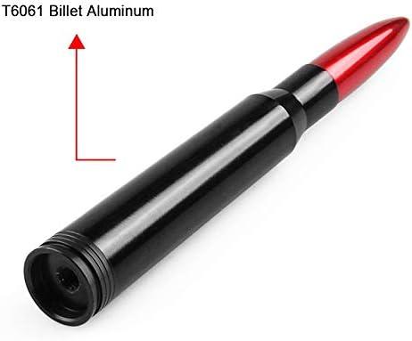 138mm Durable Antenne de voiture modifi/ée for forme de balle de calibre 50 Couleur : Black longueur