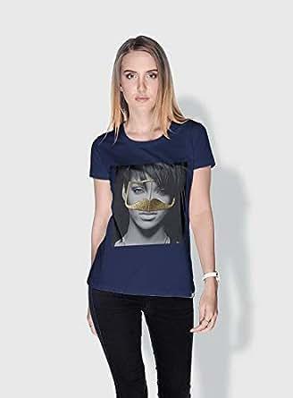 Creo Rihanna 3Araby T-Shirts For Women - M, Blue