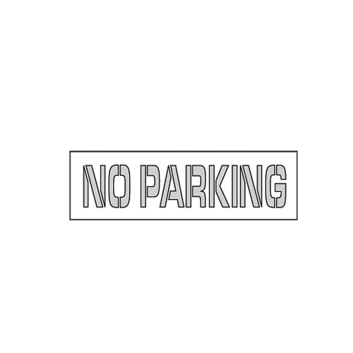 Nmc Parking Lot Stencil - No Parking - 67X8'' by NMC (Image #1)