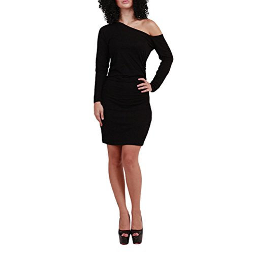 Zhhlaixing Fashion ropa de calidad Bandage Nightclub Dress Skirt Cotton Linen Oblique Dresses for Womens Black