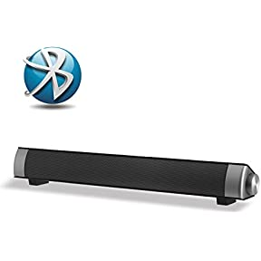 Xgody IP-08 Sound Bar with Bluetooth 3.0 TV Stereo Speaker 3.5mm Aux TF Card LED Indicator 10W Super Bass Clear...
