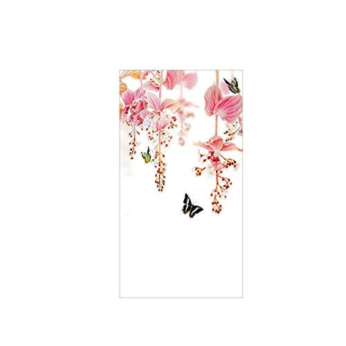 azhuang Retro Flower Frosted Glass Stickers Transparent Opaque Film Partition Bathroom Electrostatic Glass Window Stickers,80x148cm