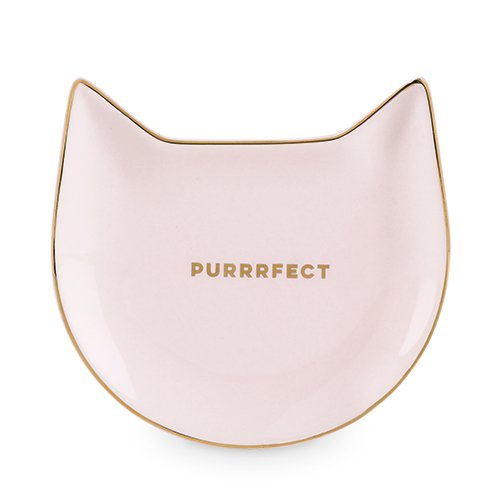 Pinky Up 5498 Purrrfect Cat Tea Tray, Pink