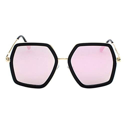 LODDD Men's And Women's Metal Large Frame Sunglasses Unisex Fashion Sunglasses Radiation ()