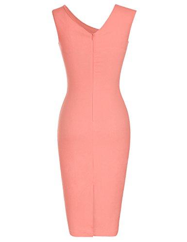 MUXXN Mujer Vestidos Vestido De Fiesta Vestidos Cocktail Falda Lapiz Pink