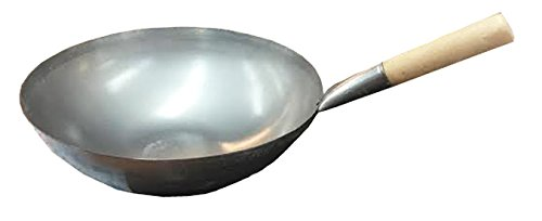 14'' Carbon Steel Wok with Wood Handle