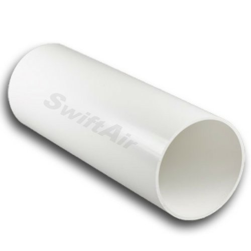 Plastic Ducting Tube Pipe Extractor Fan System 4' 100mm Dia x 1000mm 1 meter Hydroponics Fan Ventilation ducting Swiftair