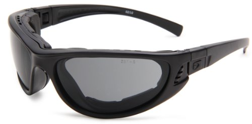 Bobster Echo BECH101 Sport Sunglasses,Black Frame/Smoke & Clear Lens,One Size (Bobster Motorcycle Sunglasses Womens)