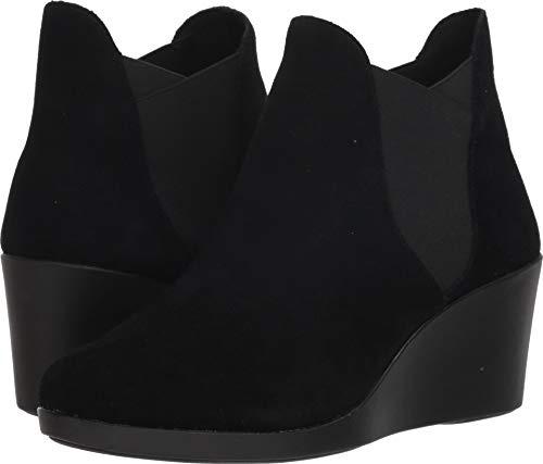 (Crocs Women's Leigh Wedge Chelsea Boot Adults Rain, Black, 8.5 M US)