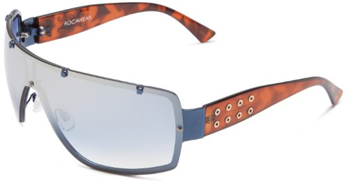 Rocawear Men's R1130 NVY Shield Sunglasses,Navy Frame/Gradient Blue Lens,one - Sunglasses Mens Rocawear